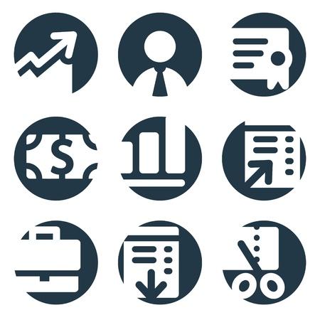 Finance web icons, crop series Vector