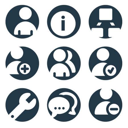 Les utilisateurs web icônes, série de cultures