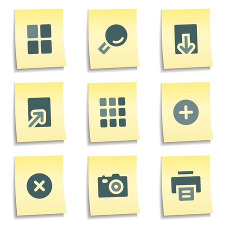 Image viewer web icons,  yellow notes series Stock Vector - 8768411