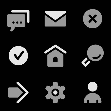 grayscale: Basic web icons, grayscale series Illustration
