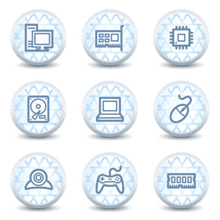 ddr: Computer web icons, glossy circle buttons