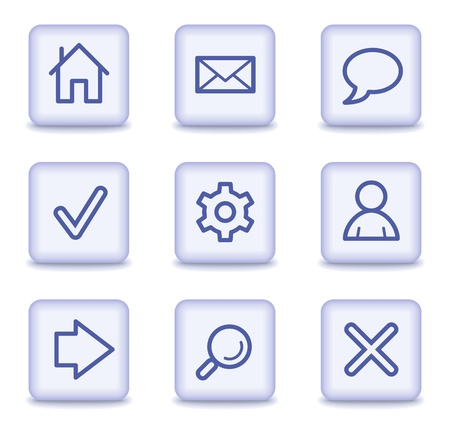 arrow home: Basic web icons, light violet glossy buttons