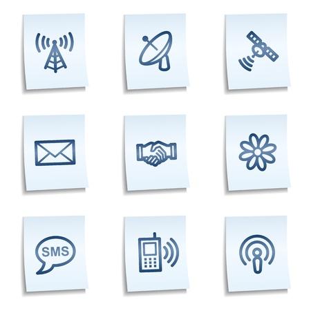 wifi access: Icone di comunicazione web, blue note Vettoriali