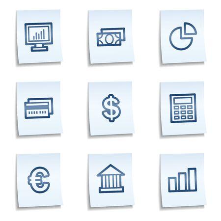 calc: Finance web icons set 1,  blue notes Illustration