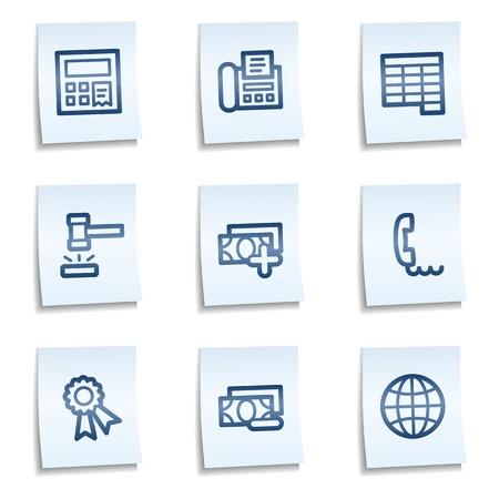 honorarios: Conjunto de iconos de web de Finanzas 2, blue notes