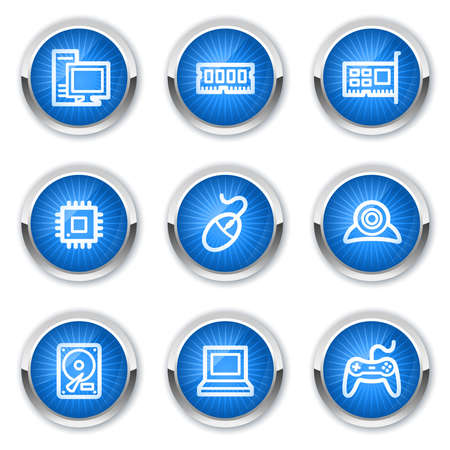 ddr: Computer web icons, blue buttons