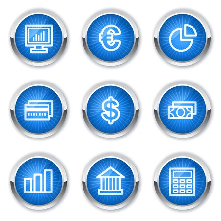 Finance web icons set 1, blue buttons Stock Vector - 10659442