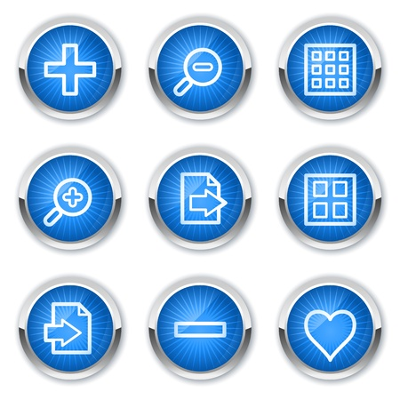 preview: Image viewer web icons set 1, blue buttons Illustration