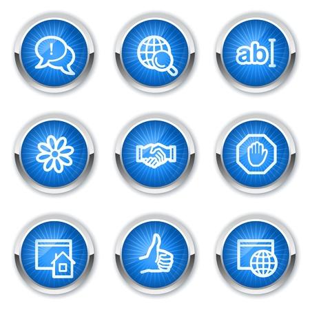 icq: Internet web icons set 1, blue buttons