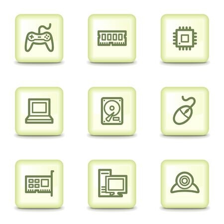 Computer web icons, salad green buttons