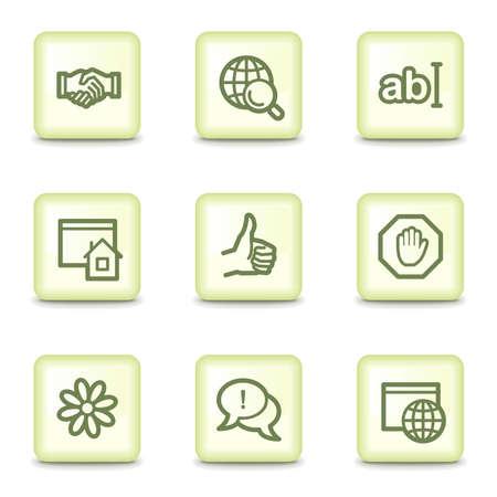 icq: Internet web icons set 1, salad green buttons