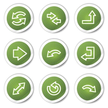 back up: Arrows web icons set 1, green  stickers  Illustration