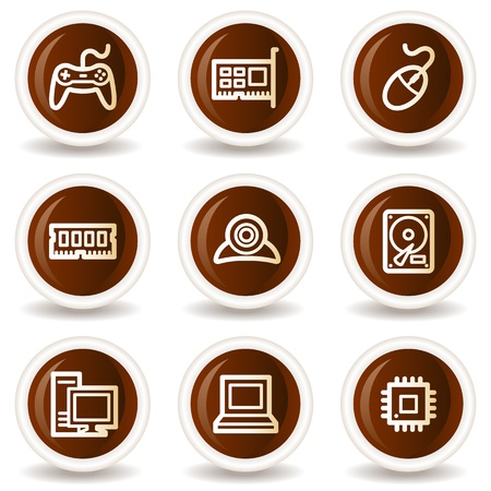 webcamera: Computer web icons, chocolate  buttons