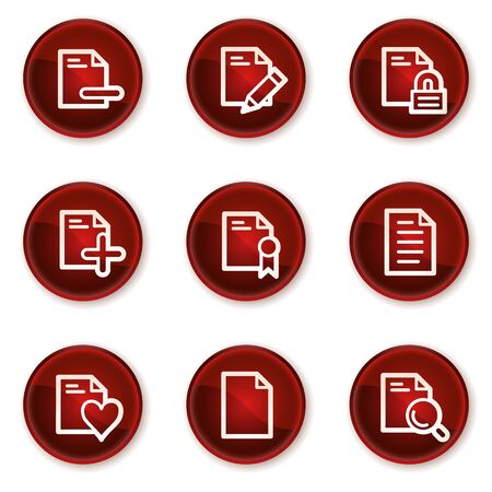 edit icon: Document web icons set 2, dark red circle buttons