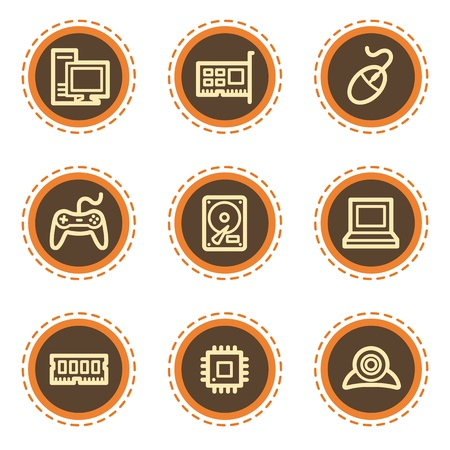 webcamera: Computer web icons, vintage  buttons