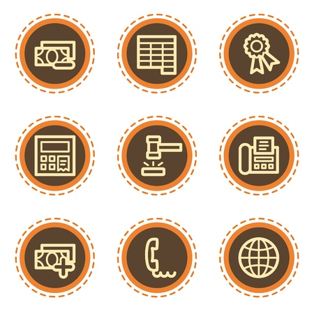 Finance web icons set 2, vintage buttons Stock Vector - 21601514
