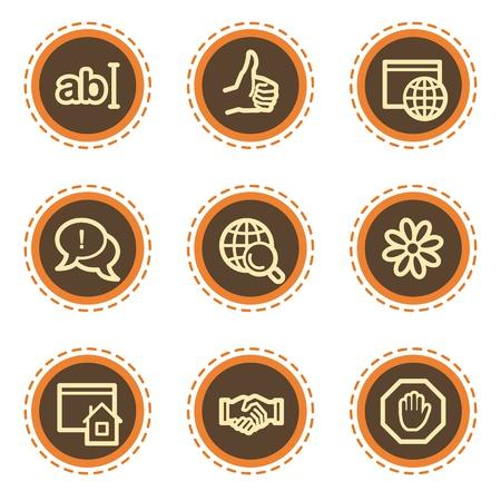 icq: Internet web icons set 1, vintage buttons