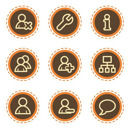 Users web icons, vintage buttons Stock Vector - 21601551