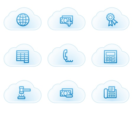 Finance web icons set 2, cloud buttons Stock Vector - 21702934