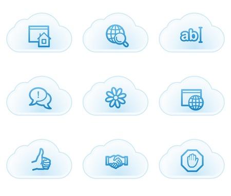 icq: Internet web icons set 1, cloud buttons