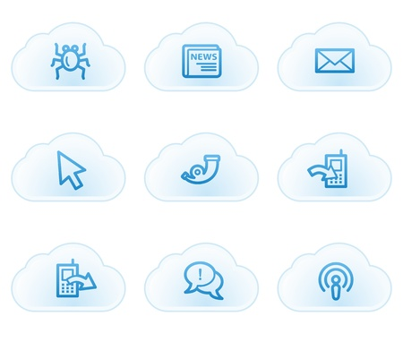 Internet web icons set 2, cloud buttons Stock Vector - 21702948