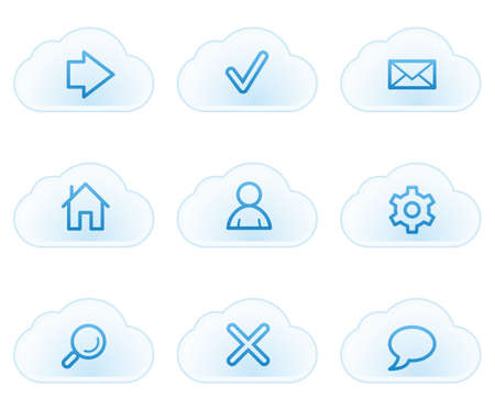 Basic web icons, cloud buttons