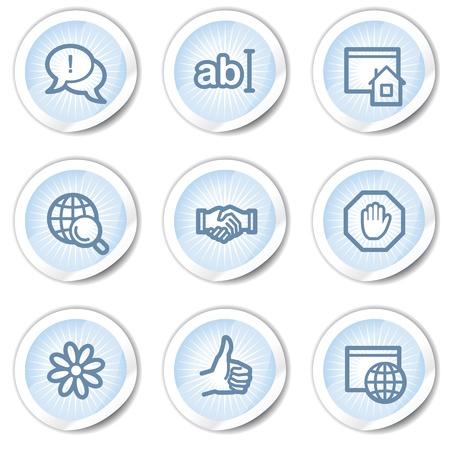 icq: Internet web icons set 1, light blue stickers