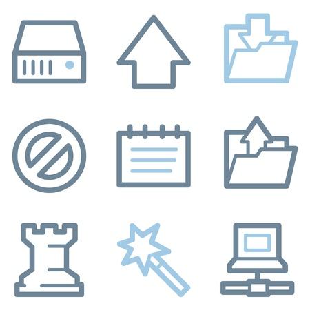 Data icons, blue line contour series
