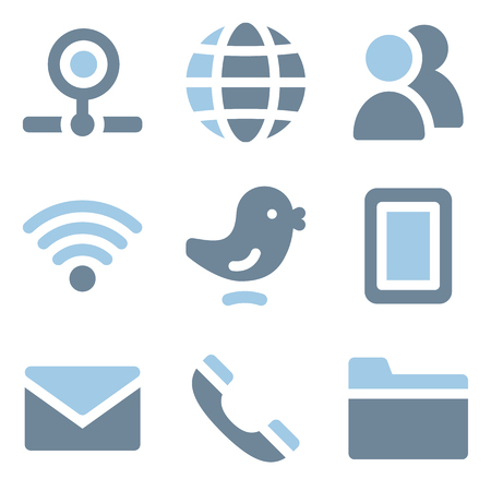 webcamera: Communication icons, blue solid series