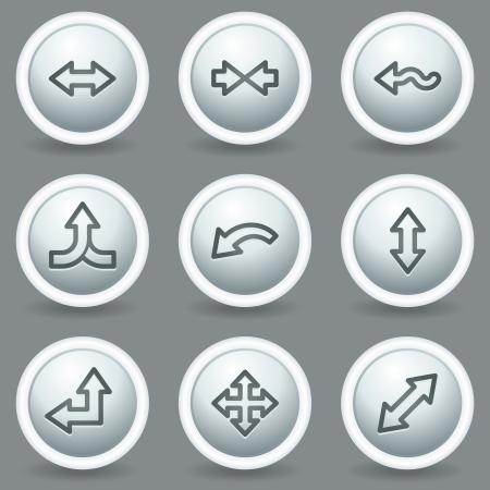 matt: Arrows web icons set 2, circle grey matt buttons Illustration