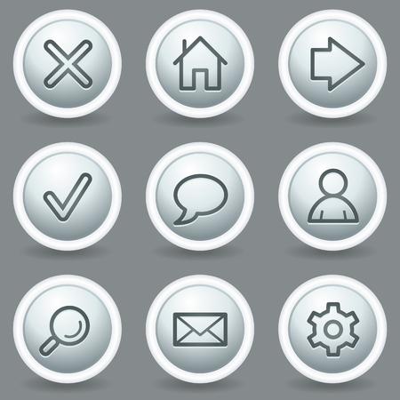 matt: Basic web icons, circle grey matt buttons