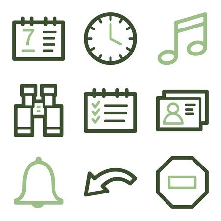 todo: Organizer icons, green line contour series