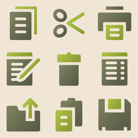 edit icon: Document web icons vintage color series