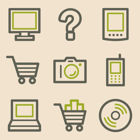 Electronics web icons, vintage series Vector