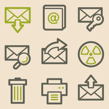 E-mail web icons, vintage series Vector