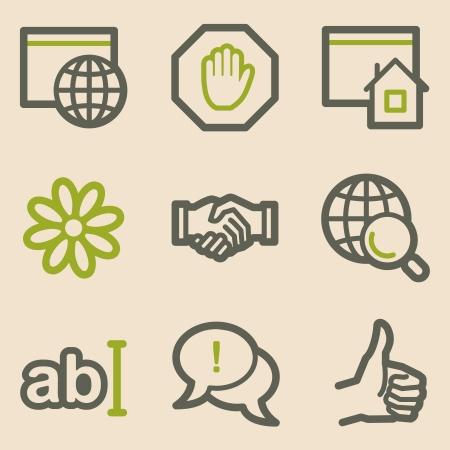 icq: Internet web icons, vintage series Illustration