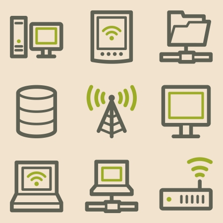 access point: Network web icons, vintage series