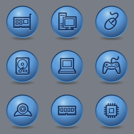 blue buttons: Computer web icons, circle blue buttons