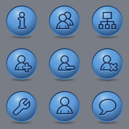 blue buttons: Users web icons, circle blue buttons