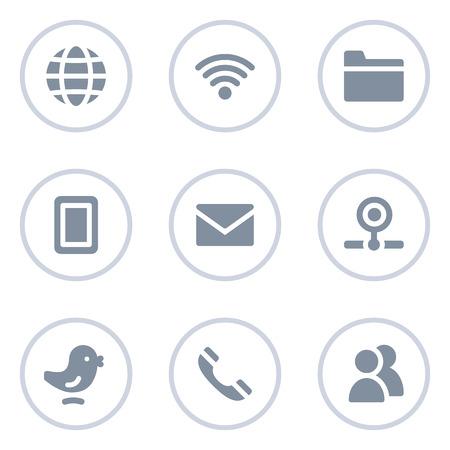 webcamera: Communication web icons, circle line series