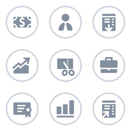 Finance web icons, circle line series Ilustração