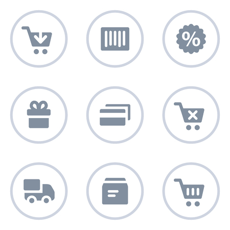 add button: Shopping web icons, circle line series Illustration