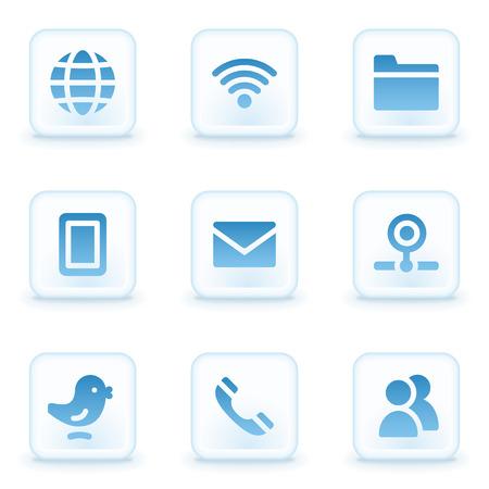 webcamera: Communication web icons, winter buttons Illustration
