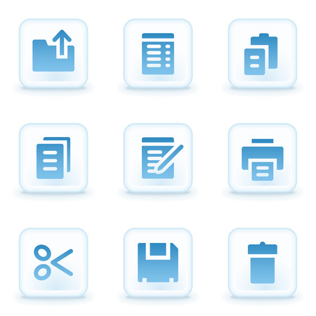 Document web icons, winter buttons Illustration