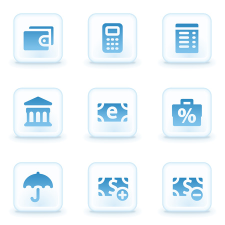 Finance web icons, winter buttons