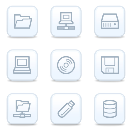 fdd: Drive storage web icons, square buttons