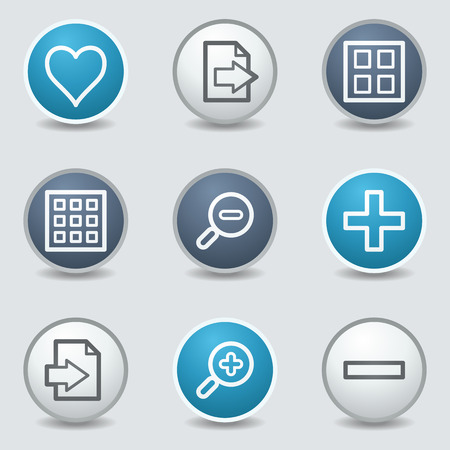 blue buttons: Image viewer web icons, circle blue buttons