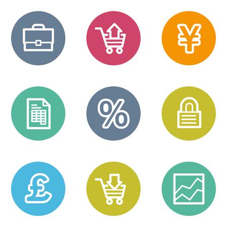 matt: E-business web icons, color circle buttons