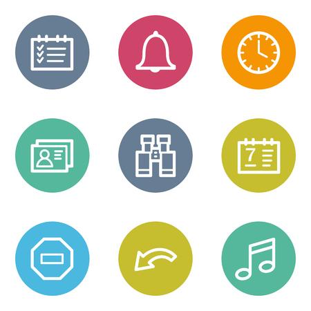 todo: Organizer web icons, color circle buttons