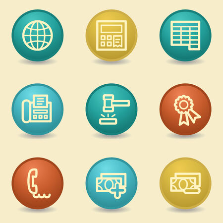Finance web icons, retro buttons Vector